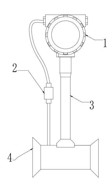 涡街流量传感器结构