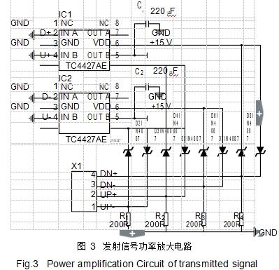 图 3发射信号功率放大电路