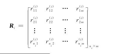 因素评价矩阵