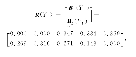 则 孔 板 流 量 计 Y1的 总 评 价 矩阵为