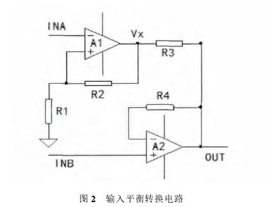 图 2  输入平衡转换电路