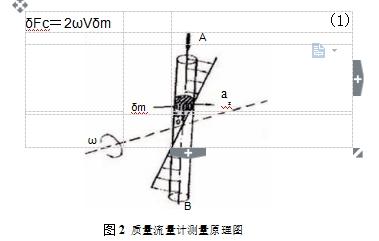 图2质量流量计测量原理图
