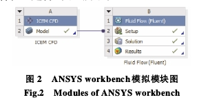 图 2  ANSYS workbench模拟模块图