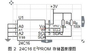 图 224C16 E2PROM 存储器原理图