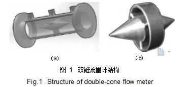 图 1双锥流量计结构
