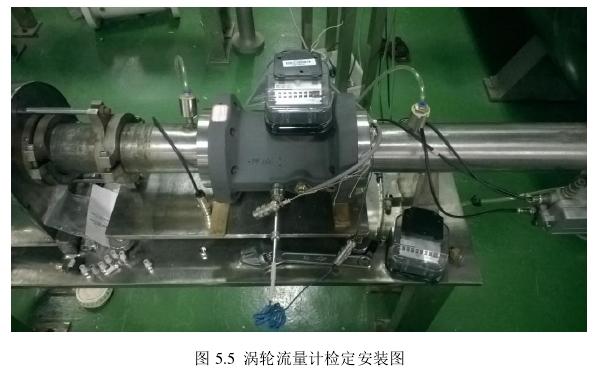 图 5.5  涡轮流量计检定安装图