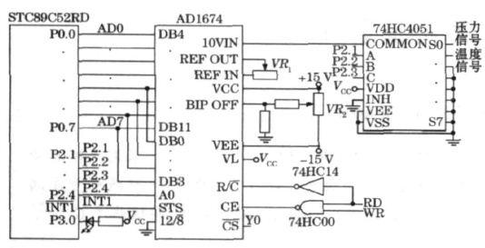 图4  信号的采集接口电路原理图