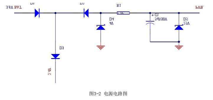 图3-2 电源电路图