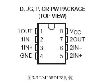 图3-3 LM258DIP8封装