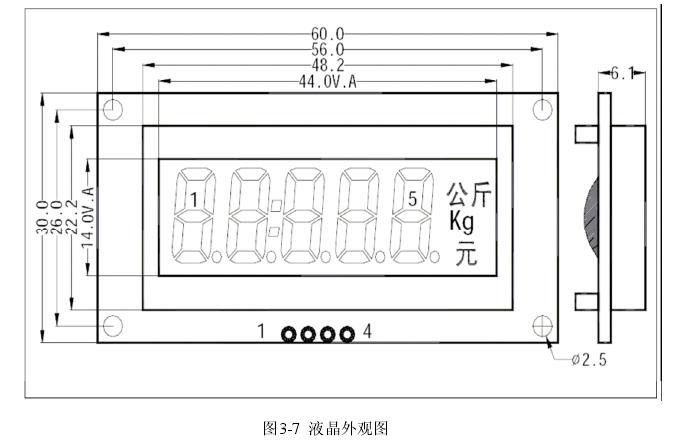 图3-7  液晶外观图