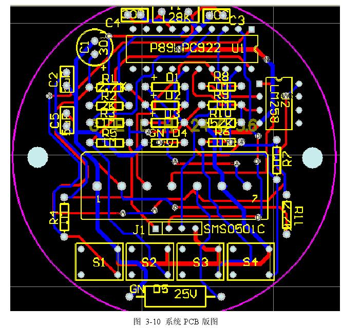 图  3-10  系统 PCB 版图