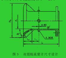 图 3  双纽线流量计尺寸设计