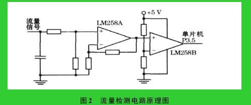 图 2 流量检测电路原理图
