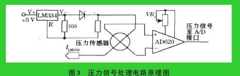图 3 压力信号处理电路原理图