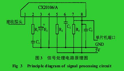 图 3 信号处理电路原理图Fig 3  Princip le d iagram of signal proces