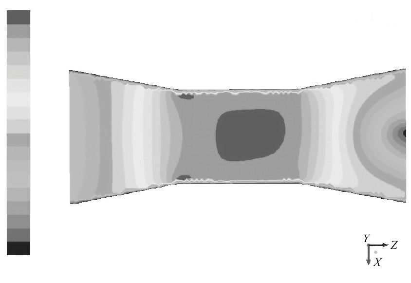 图3 入口速度为0.3m/s的速度云图Figure 3 Contour of 0.3m/s inlet velocity