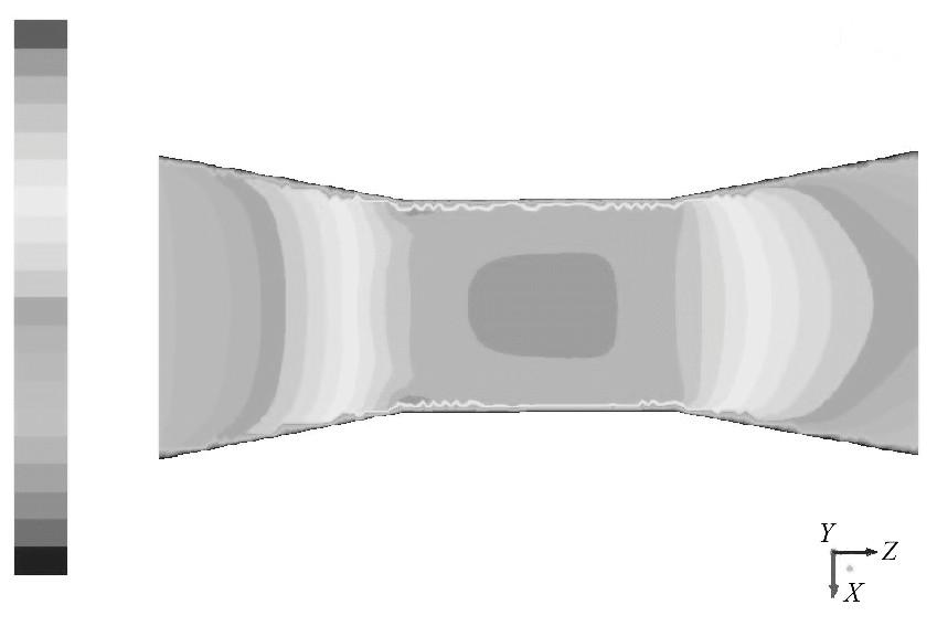 图6 入口速度为5.0m/s的速度云图Figure 6 Contour of 5.0m/s inlet velocity