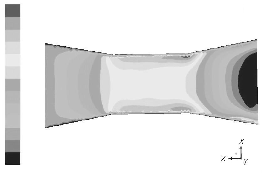 图8 入口速度为0.1m/s的速度云图Figure 8 Contour of 0.1m/s inlet velocity