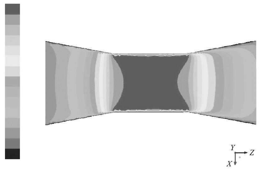 图1 4 入口速度为5m/s的速度云图Figure 14 Contour of 5m/s inlet velocity