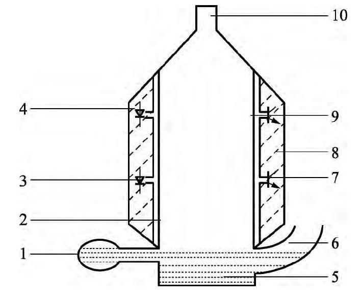 图2 电子皂膜管结构图