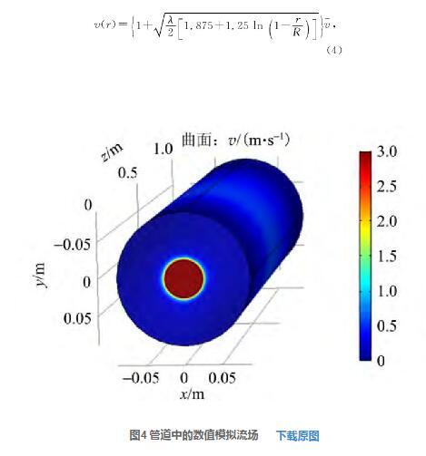 图4 管道中的数值模拟流场
