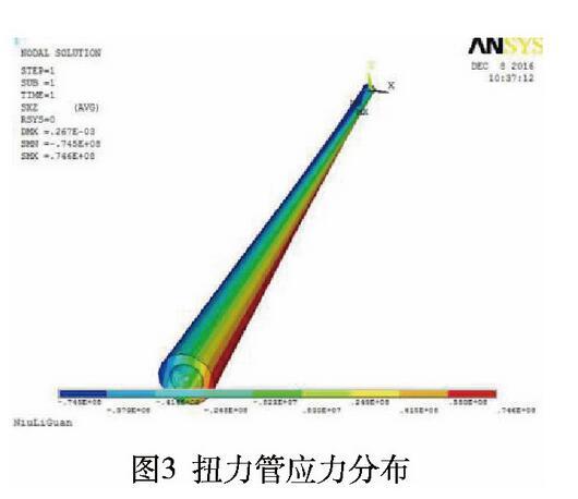 图3 扭力管应力分布