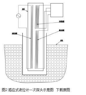 图2 感应式液位计一次探头示意图