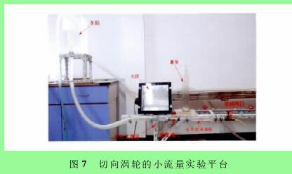 图7 切向涡轮的小流量实验平台