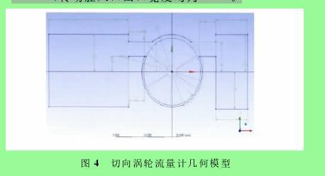 图4 切向涡轮流量计几何模型
