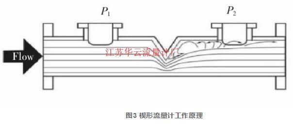 图3 楔形流量计工作原理