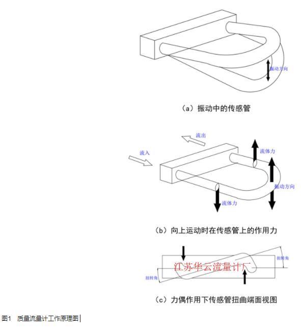 图1 质量流量计工作原理图