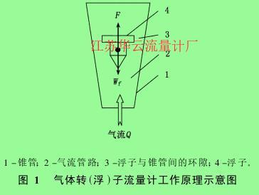 图 1  气体转(浮)子流量计工作原理示意图
