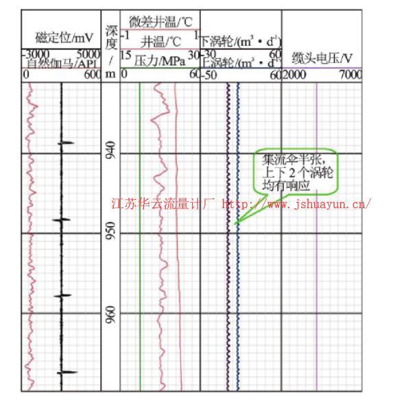 图5 标准井测井曲线