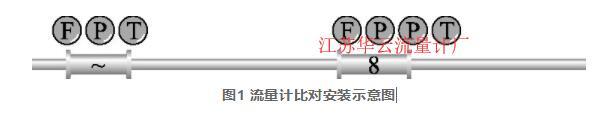 图1 流量计比对安装示意图