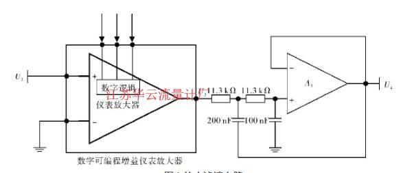 图4 放大滤波电路