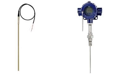 左:连接电缆模型TR40电阻温度计(应用广泛)右:为流程工业模型tr12-b电阻温度计(石化、石油和天然气行业)