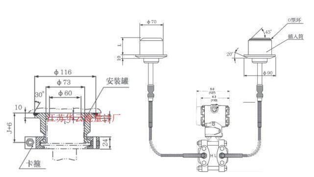 双法兰液位计催化分馏塔液位计冲洗油应用
