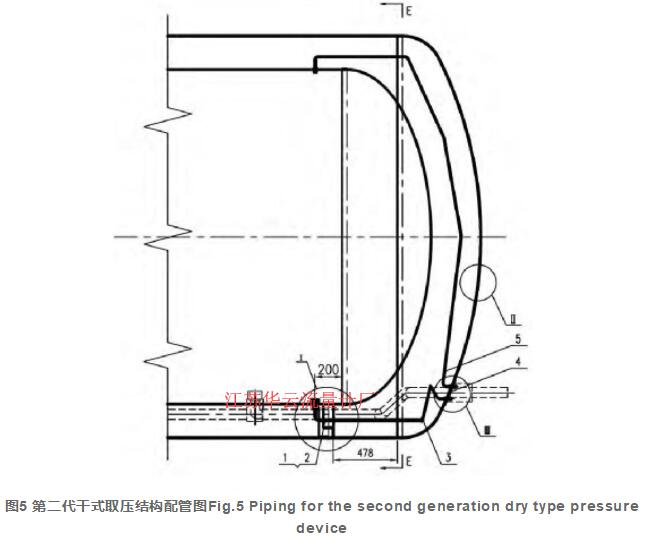 图5 第二代干式取压结构配管图Fig.5 Piping for the second generation dry type pressure device
