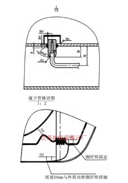 图6 第三代干式取压接头及配管图Fig.6 The third generation dry type pressure device and piping