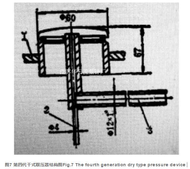 图7 第四代干式取压器结构图Fig.7 The fourth generation dry type pressure device