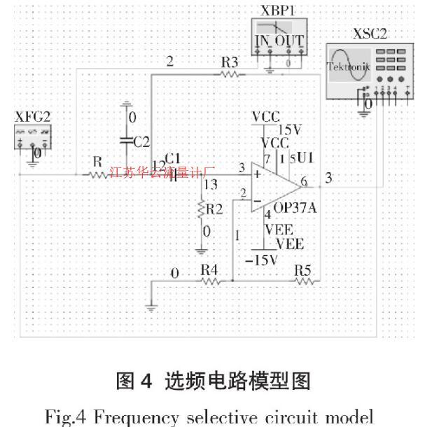 图4 选频电路模型图