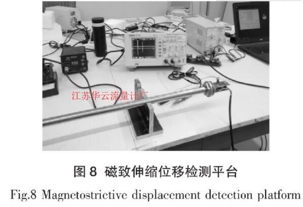 图8 磁致伸缩位移检测平台