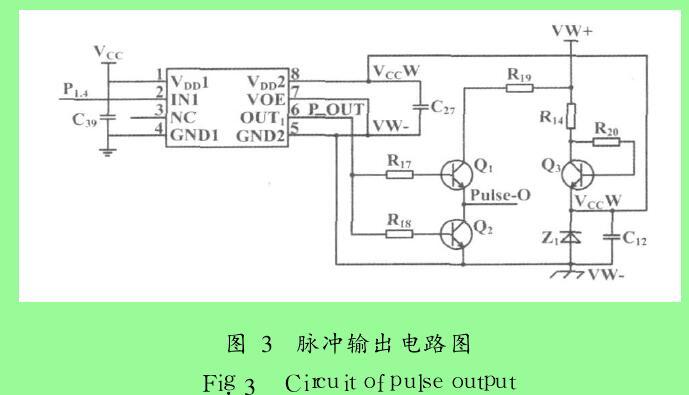 图 3 脉冲输出电路图
