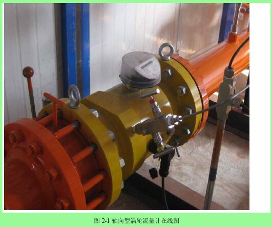 图 2-1 轴向型涡轮流量计在线图