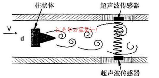 图1 插入式超声波传感器原理图