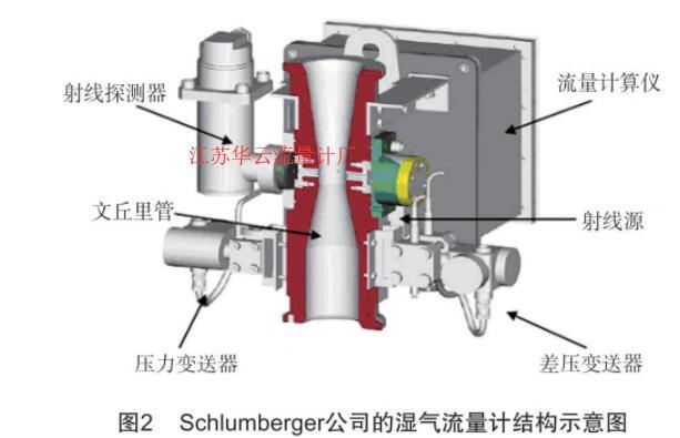 图2 schlumberger 公司的湿气流量计结构示意图