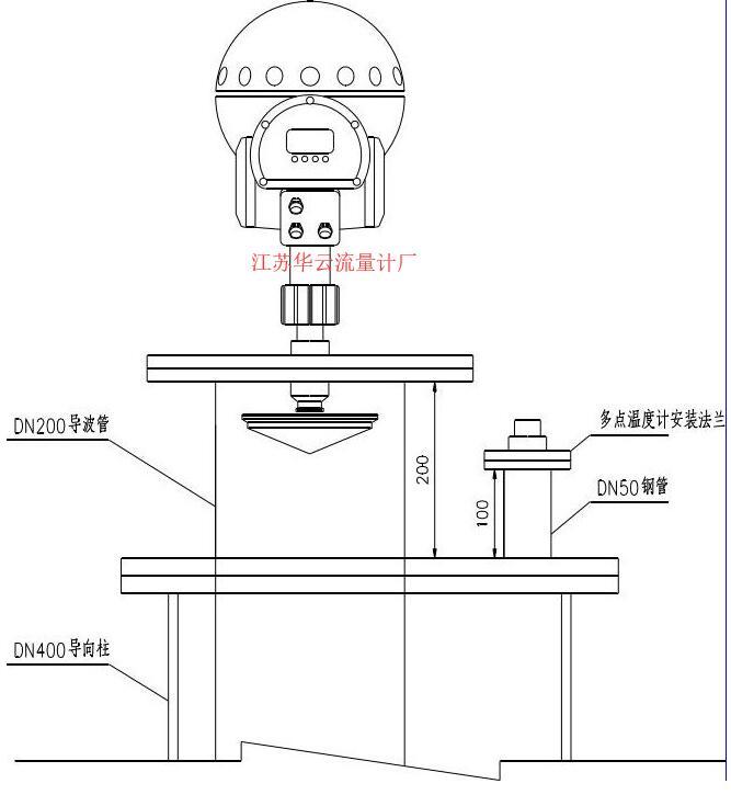 图1 液位计管道安装示意图