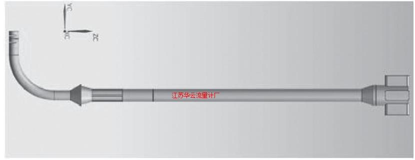 图2 旁路管流量计水体模型Fig.2 Water model of bypass tube flowmeter