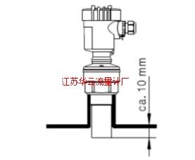 图3 VEGA液位计厂家文件安装要求示意
