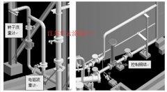 污水流量计仪表及管道支架布置